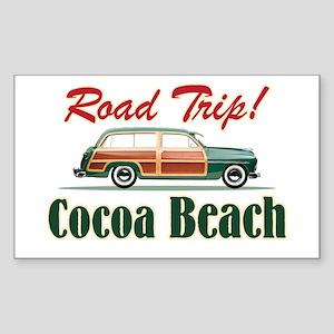 Cocoa Beach Road Trip - Sticker (Rectangle)
