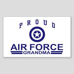 Proud Air Force Grandma Rectangle Sticker