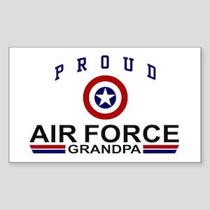 Proud Air Force Grandpa Rectangle Sticker