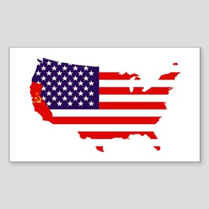 Communist California Sticker (Rectangle)