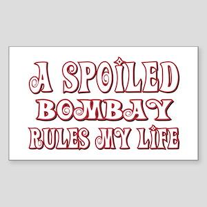 Spoiled Bombay Rectangle Sticker