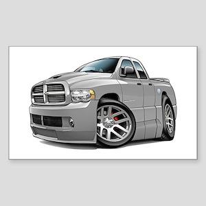 SRT10 Dual Cab Grey Truck Rectangle Sticker