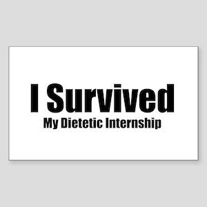 Dietetic Intern Rectangle Sticker
