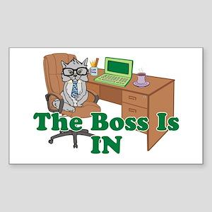 Cat Boss is In Sticker (Rectangle)