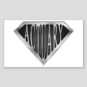SuperActuary(metal) Rectangle Sticker