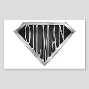 SuperOilman(metal) Rectangle Sticker