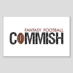 Fantasy Football Commish Sticker (Rectangle)