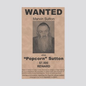 Popcorn Sutton Wanted Poster b Sticker (Rectangle)