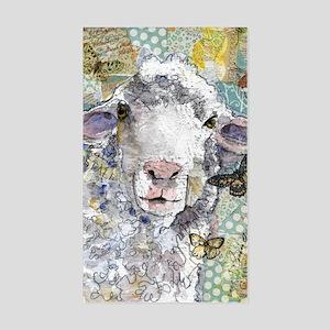 White Sheep Sticker (Rectangle)