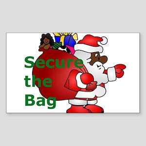 secure the bag santa Sticker