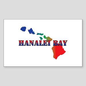 Hanalei Bay Hawaii Sticker