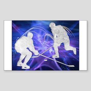 Ice Hockey Players Fighting Sticker