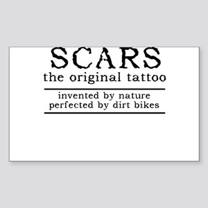 Scars Original Tattoo Dirt Bike Motocross Funny St
