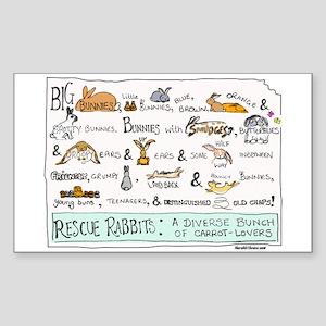 Rescue Rabbits Sticker