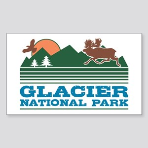 Glacier National Park Sticker (Rectangle)