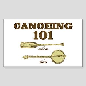 Canoe-101 Sticker (Rectangle)