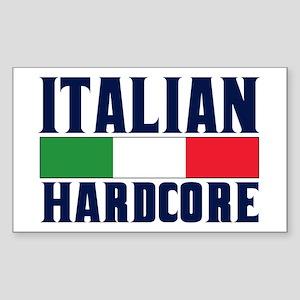Italian Hardcore Sticker (Rectangle)