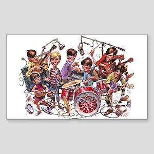 Cowsill 1960s Cartoon Rectangle Sticker