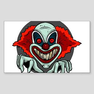 Evil Clown Rectangle Sticker