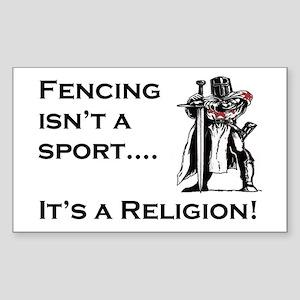 It's A Religion! Rectangle Sticker
