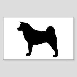 akita silhouette Sticker
