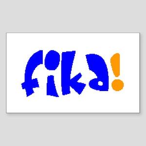 fika Sticker (Rectangle)