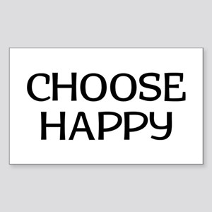 Choose Happy Sticker (Rectangle)
