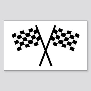 Racing flags Sticker (Rectangle)