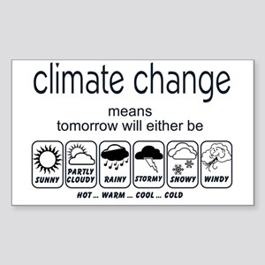 CLIMATE CHANGE t-shirt Sticker (Rectangle)