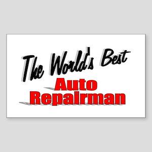 """The World's Best Auto Repairman"" Sticker (Rectang"