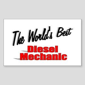 """The World's Best Diesel Mechanic"" Sticker (Rectan"