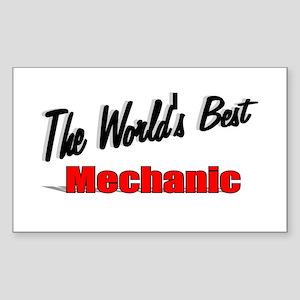 """The World's Best Mechanic"" Rectangle Sticker"