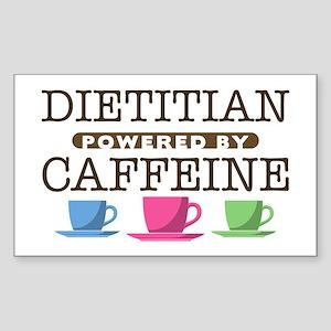 Dietitian Powered by Caffeine Rectangle Sticker