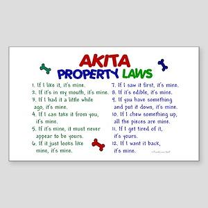 Akita Property Laws 2 Rectangle Sticker