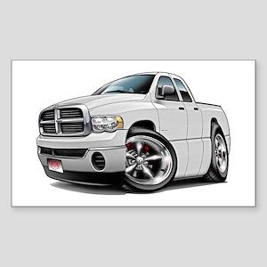 Dodge Ram White Dual Cab Rectangle Sticker