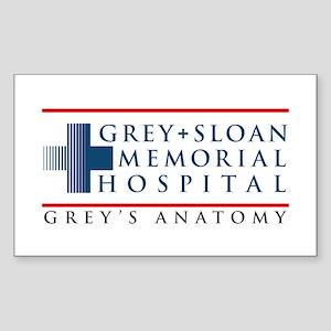 Grey Sloan Memorial Hospital Rectangle Sticker