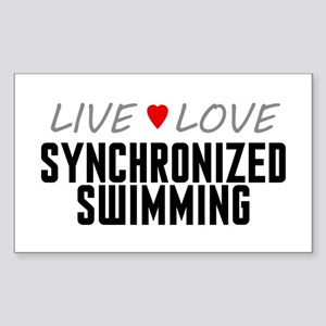 Live Love Synchronized Swimming Rectangle Sticker