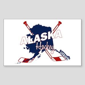 Alaska Hockey Sticker (Rectangle)