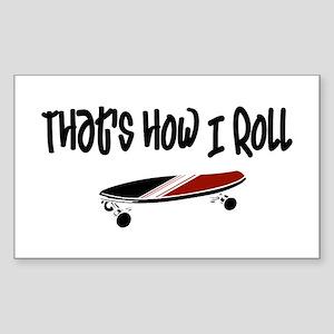 Skateboard Roll Sticker (Rectangle)