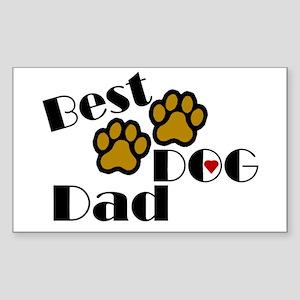Best Dog Dad Rectangle Sticker