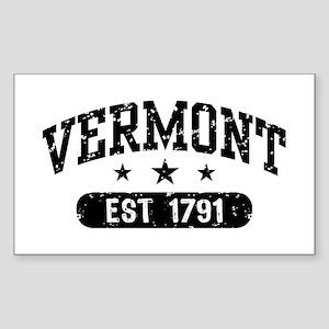 Vermont Est. 1791 Sticker (Rectangle)