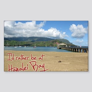 CalendarHanaleiBay Sticker (Rectangle)