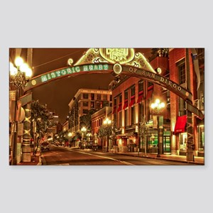 Gaslamp2 Sticker (Rectangle)