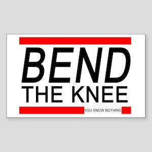 Bend The Knee Sticker