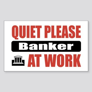 Banker Work Rectangle Sticker