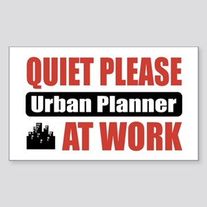 Urban Planner Work Rectangle Sticker