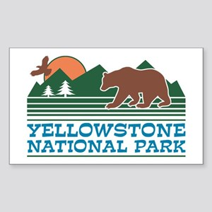Yellowstone National Park Sticker (Rectangle)