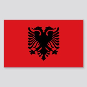 Albanian flag Sticker (Rectangle)