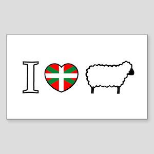 I <heart> Sheep Rectangle Sticker
