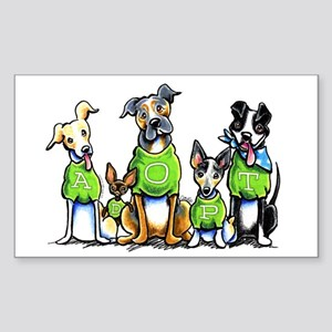 Adopt Shelter Dogs Sticker